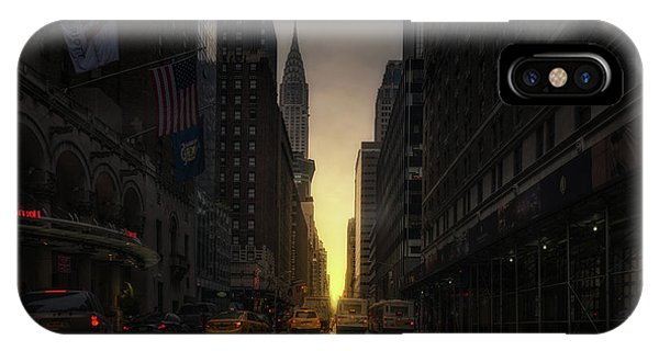 Chrysler Building iPhone Case - Manhattanhenge by David Mart?n Cast?n