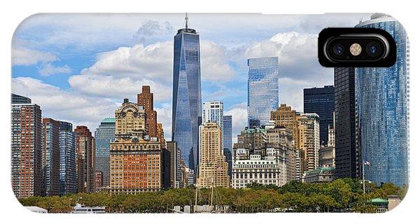 Manhattan's Financial District Skyline  IPhone Case