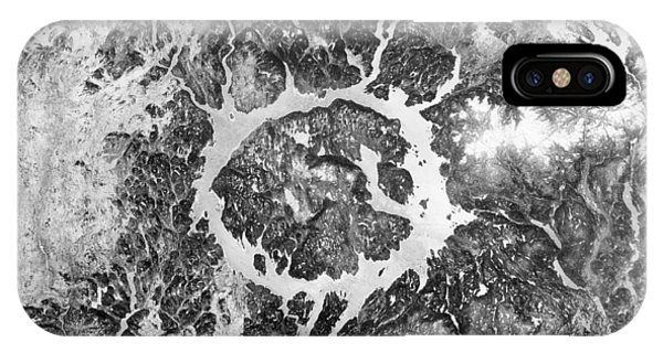 International Space Station iPhone Case - Manicouagan Crater by Anonymous