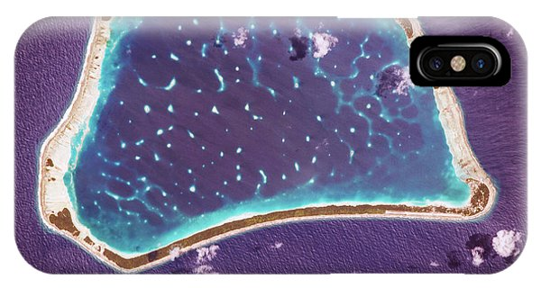 International Space Station iPhone Case - Manihiki Atoll by Nasa