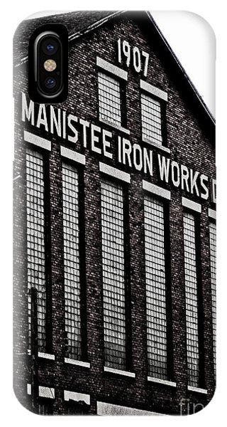 Manistee Iron Works IPhone Case