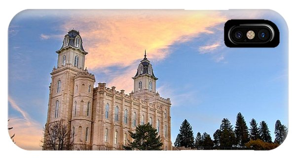 Manti Temple Morning IPhone Case