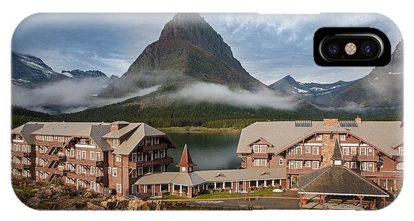 Many Glacier Hotel IPhone Case