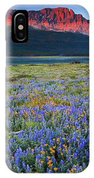 Many Glacier Morning  IPhone Case