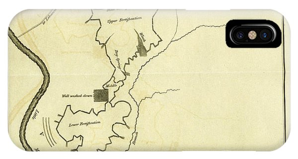 Map Of An Ancient Fortification On The Bank Of The Little Phone Case by Litz Collection