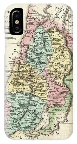 British Empire iPhone Case - Map Of Ancient Palestine by Library Of Congress, Geography And Map Division