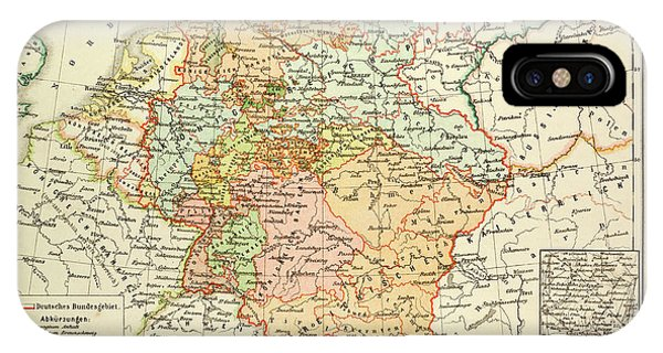 Map Of Germany 1815.Map Of Germany 1815 1866 Drawing By German School