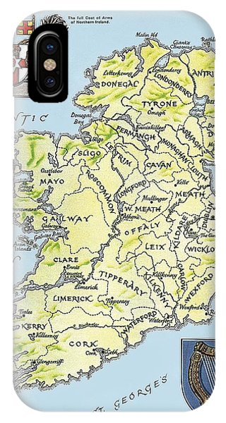Coat iPhone Case - Map Of Ireland by English School