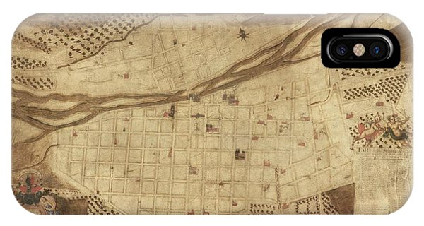 King Charles iPhone Case - Map Of Lima by Library Of Congress, Geography And Map Division