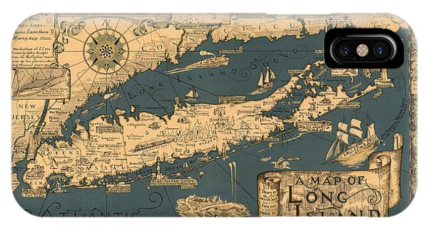 Map Of Long Island IPhone Case