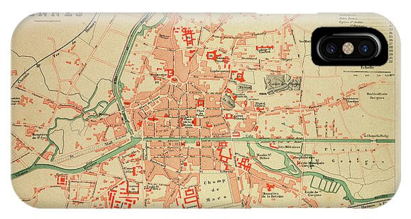 Map Of Rennes France Drawing By French School