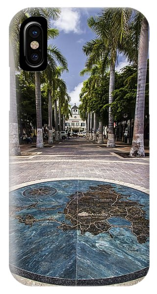 Map Of St. Maarten In The Boardwalk IPhone Case
