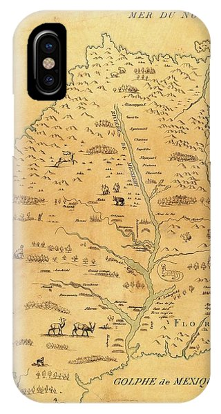 Marquette iPhone Case - Map Of The Mississippi River by Library Of Congress, Geography And Map Division