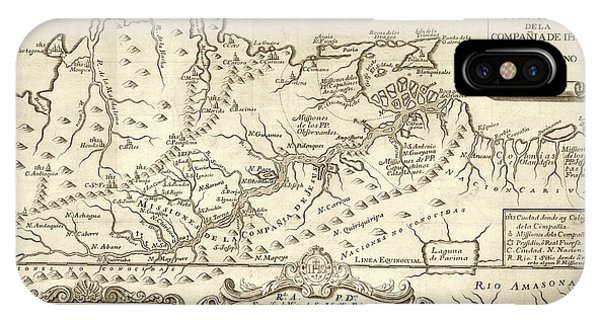 Colombia iPhone Case - Map Of The Orinoco River by Library Of Congress