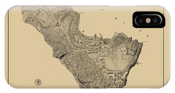 Map Of West Point 1883 IPhone Case