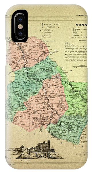 Map Of Yonne France.Map Of Yonne France Drawing By French School
