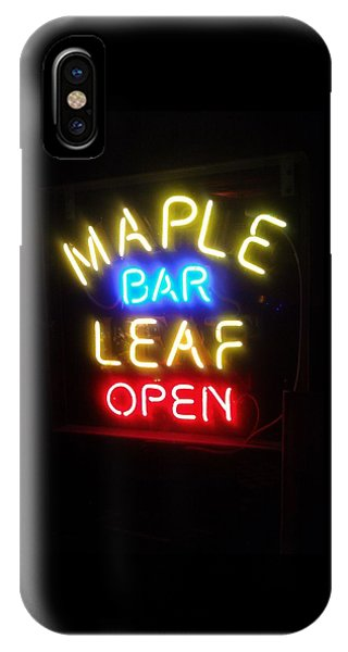 Maple Leaf Bar IPhone Case