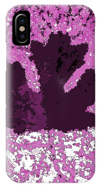Maple Leaf Purple Pop Poster Hues  IPhone Case