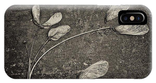 Maple Leaf Art iPhone Case - Maple Tree Whirlybirds by Tom Mc Nemar