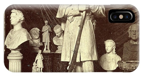 Roxbury iPhone Case - Maquette Of Union Soldier For Roxbury Soldiers Monument by Litz Collection