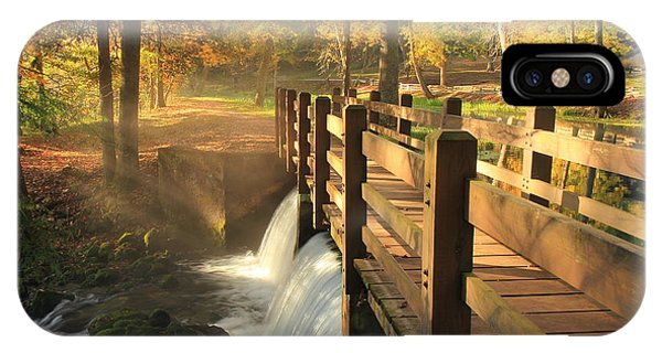 Maramec Bridge And Falls IPhone Case