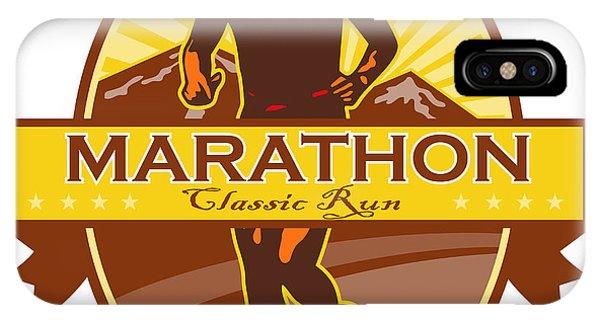 Marathon Classic Run Retro Phone Case by Aloysius Patrimonio