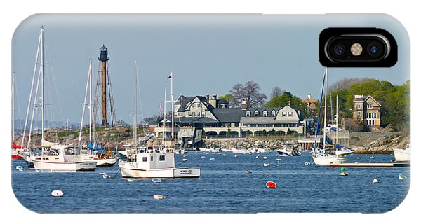 Marblehead Light And Yacht Club IPhone Case
