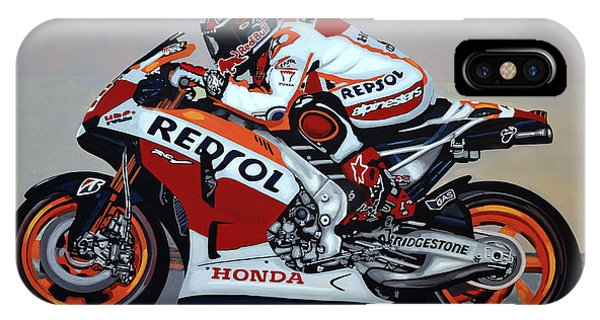Spa iPhone Case - Marc Marquez by Paul Meijering