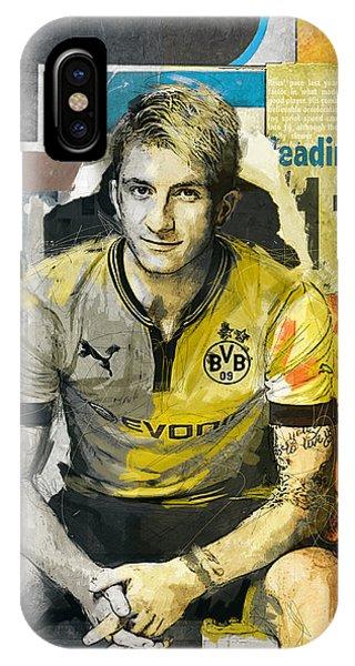 Borussia Dortmund iPhone Case - Marco Reus - B by Corporate Art Task Force