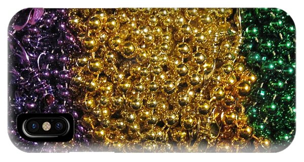 Mardi Gras Beads - New Orleans La IPhone Case