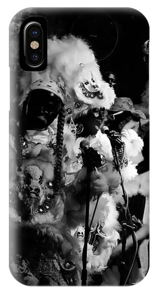 Mardi Gras Indians At The Gold Mine Saloon In New Orleans IPhone Case