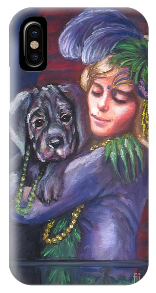 Mardi Gras Puppy IPhone Case