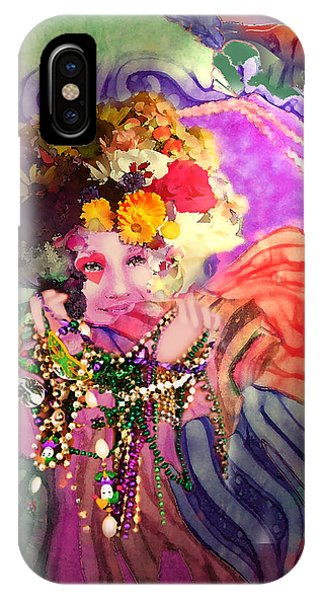 Mardi Gras Queen IPhone Case