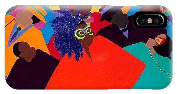 iPhone Case - Mardi Gras by Synthia SAINT JAMES