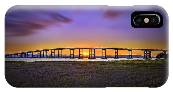 Mare Island Bridge At Sunset IPhone Case