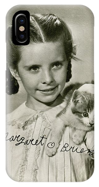Child Actress iPhone Case - Margaret O'brien  American Child by Mary Evans Picture Library