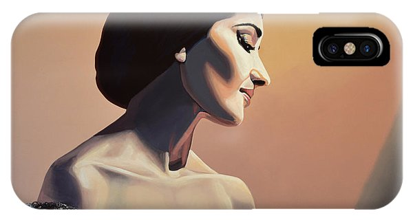 Glamour iPhone Case - Maria Callas Painting by Paul Meijering