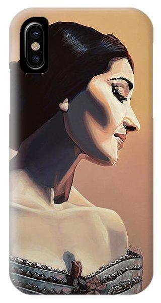 Maria Callas Painting IPhone Case