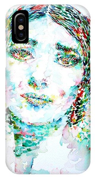 Maria Callas - Watercolor Portrait.1 IPhone Case