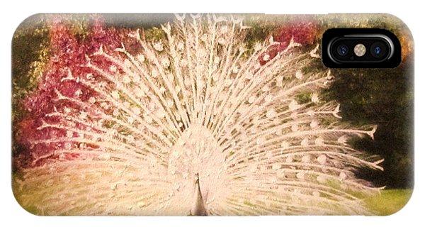 Maria's White Peacock IPhone Case