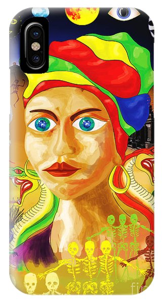 Voodoo iPhone Case - Marie Laveau by Neil Finnemore