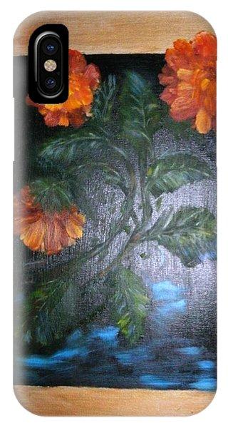 Marigolds Phone Case by Karen Lipek