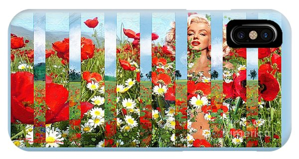 Marilyn In Poppies 1 IPhone Case