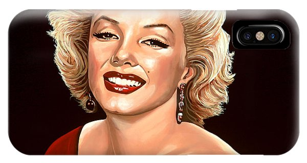 Diamond iPhone Case - Marilyn Monroe 3 by Paul Meijering