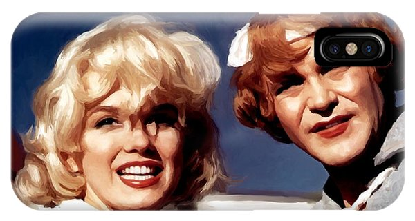 Marilyn Monroe And Jack Lemon Portrait IPhone Case