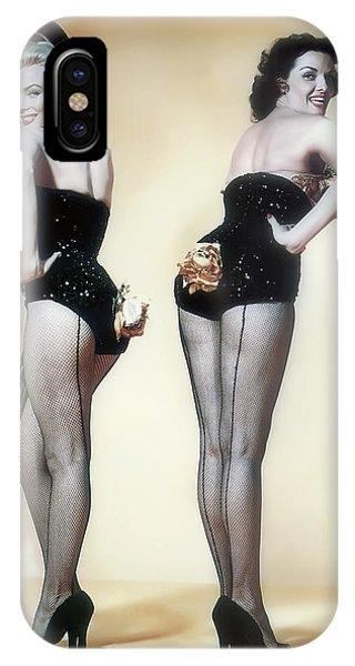 Leading Actress iPhone Case - Marilyn Monroe And Jane Russell by Daniel Hagerman