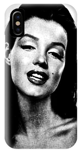 Marilyn Monroe--brunette IPhone Case