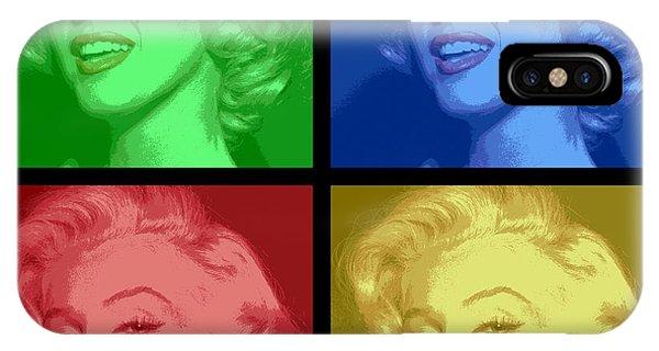 Marilyn Monroe Colored Frame Pop Art IPhone Case