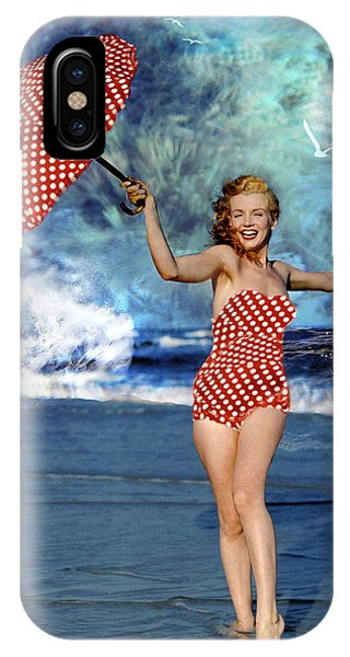 Marilyn Monroe - On The Beach IPhone Case