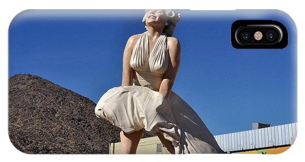 Marilyn Monroe Statue In Palm Springs California IPhone Case